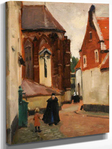 Beguinage Church By Norman Garstin