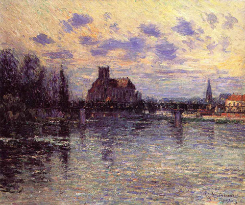 The Auxerre Cathedral By Gustave Loiseau By Gustave Loiseau