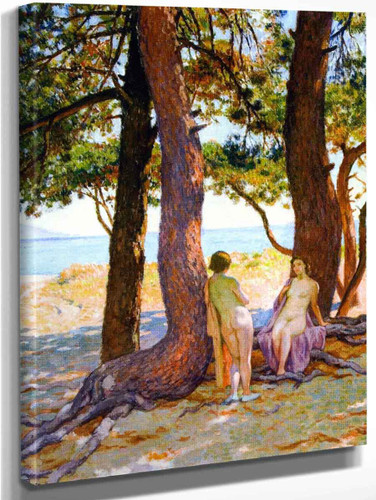 Beneath The Large Pines By Theo Van Rysselberghe