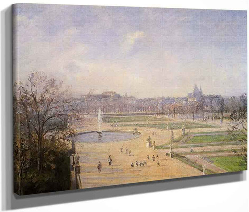 The Bassin Des Tuileries Afternoon, Sun By Camille Pissarro By Camille Pissarro