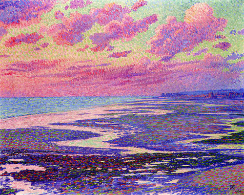 The Beach At Ambleteuse At Low Tide By Theo Van Rysselberghe