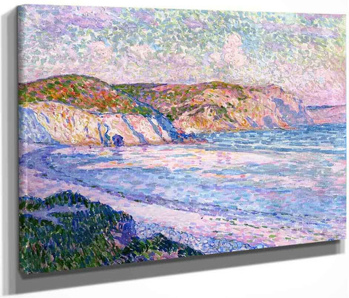 The Beach At Morgat By Theo Van Rysselberghe