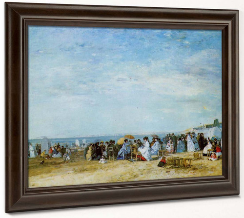 The Beach By Eugene Louis Boudin By Eugene Louis Boudin