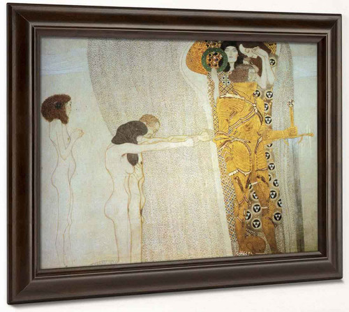 The Beethoven Frieze The Longing For Happiness By Gustav Klimt By Gustav Klimt