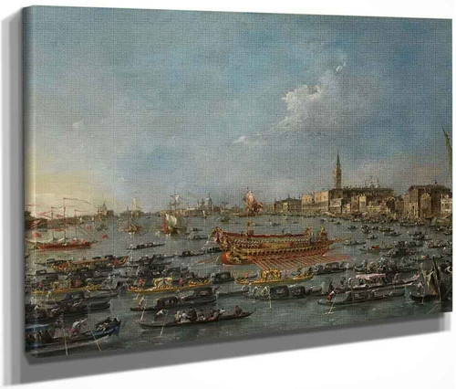 The Bucintoro Festival Of Venice By Francesco Guardi
