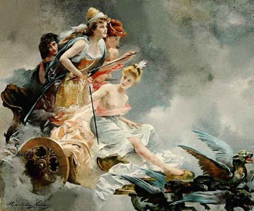 The Chariot Of Fairies By Madeleine Jeanne Lemaire