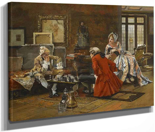 The Chess Game By Francois Flameng