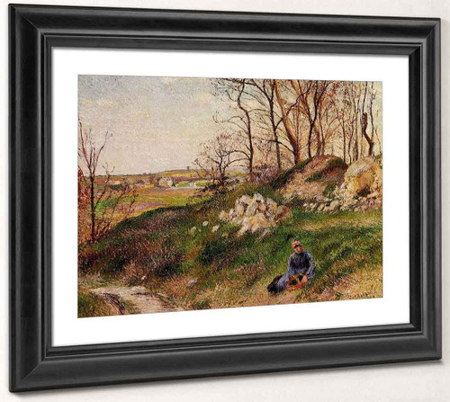 The Chou Quarries, Pontoise By Camille Pissarro By Camille Pissarro
