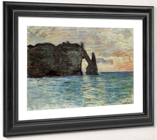 The Cliff At Etretat By Claude Oscar Monet