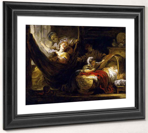 The Cradle By Jean Honore Fragonard  By Jean Honore Fragonard