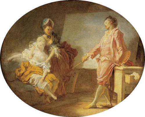 The Debut Of The Model By Jean Honore Fragonard  By Jean Honore Fragonard