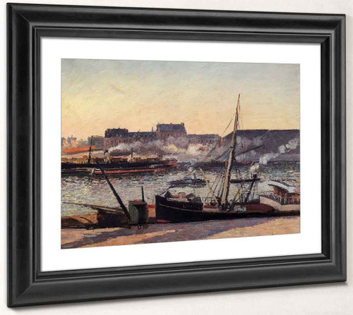 The Docks, Rouen Afternoon By Camille Pissarro By Camille Pissarro