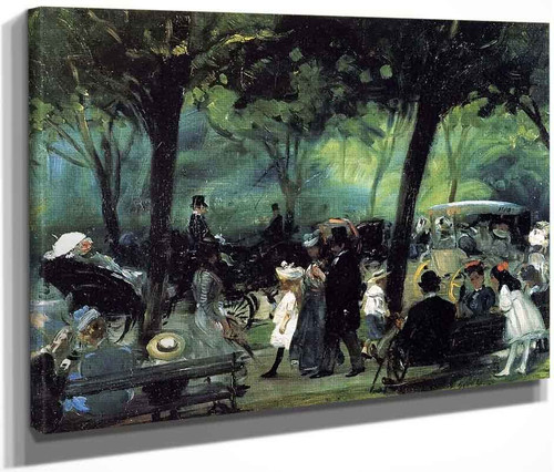 The Drive Central Park By William James Glackens  By William James Glackens