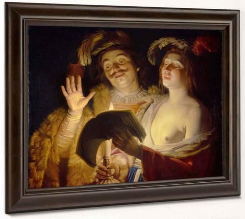 The Duet By Gerard Van Honthorst By Gerard Van Honthorst