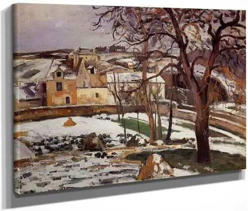 The Effect Of Snow At L'hermitage, Pontoise By Camille Pissarro By Camille Pissarro