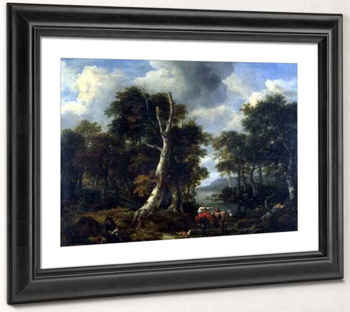 The Forest By Jacob Van Ruisdael