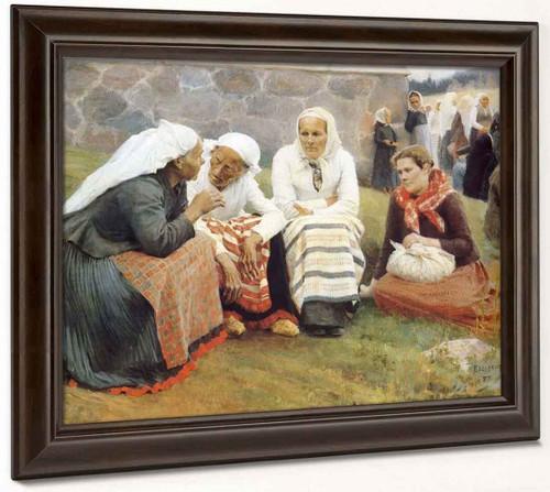 The Gossip By Albert Edelfelt