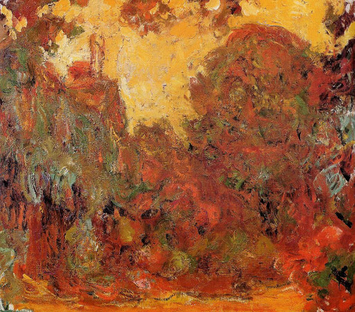 The House Seen From The Rose Garden By Claude Oscar Monet