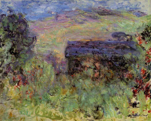 The House Seen Through The Roses By Claude Oscar Monet