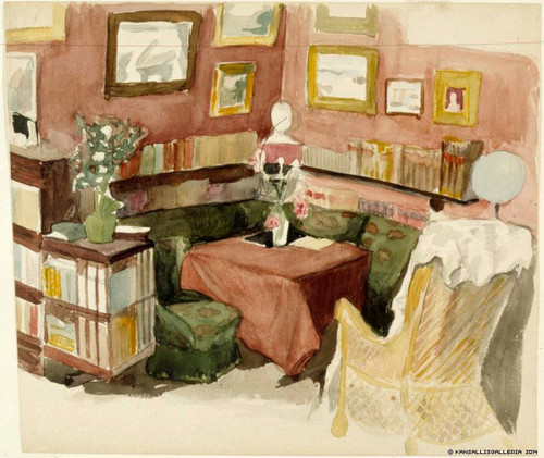 The Interior Of The Artist's Home By Albert Edelfelt