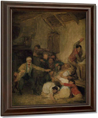 Blind Man's Buff 1 By David Wilkie Art Reproduction