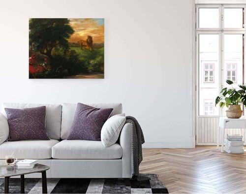 The Lion Hunt By Eugene Delacroix By Eugene Delacroix