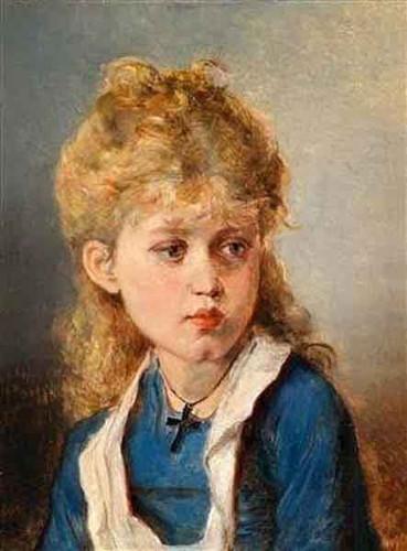 Blond Girl By Anton Ebert