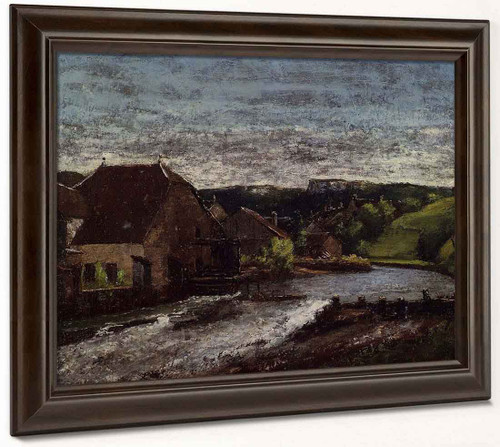 The Loue Valley By Gustave Courbet By Gustave Courbet