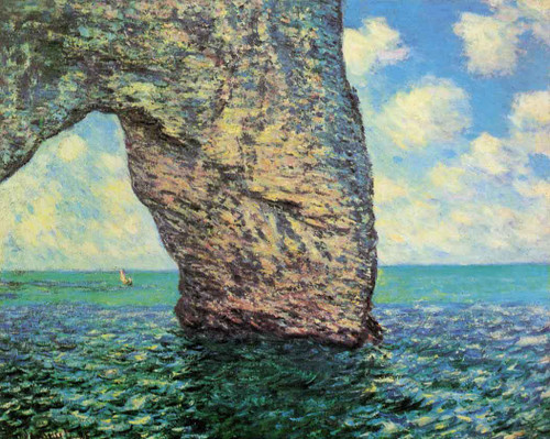 The Manneport At High Tide By Claude Oscar Monet