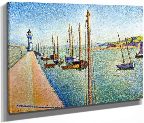 The Masts, Portrieux, Opus 182 By Paul Signac