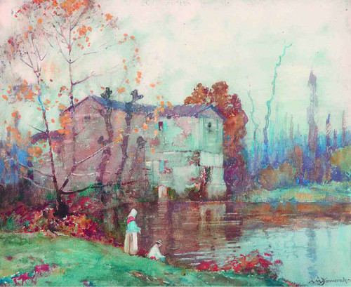 The Mill, Cordes, France By Albert Moulton Foweraker