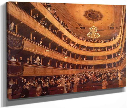The Old Burgtheater By Gustav Klimt By Gustav Klimt
