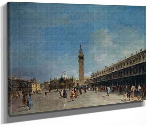 The Piazza San Marco By Francesco Guardi