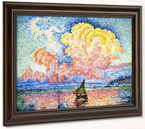 The Pink Cloud, Antibes By Paul Signac