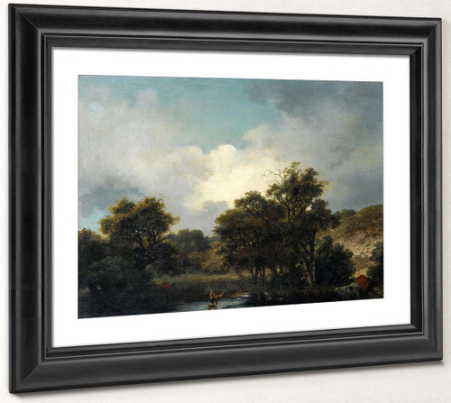 The Pond 1 By Jean Honore Fragonard  By Jean Honore Fragonard