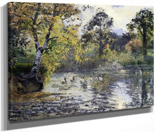 The Pond At Montfoucault By Camille Pissarro By Camille Pissarro