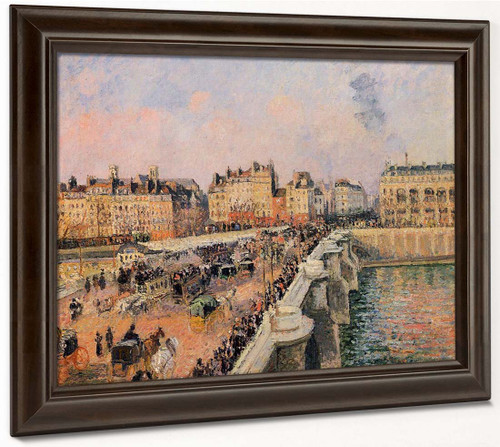 The Pont Neuf Afternoon Sun By Camille Pissarro By Camille Pissarro