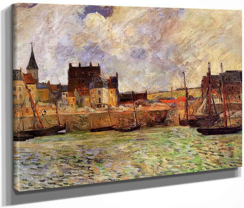 The Port, Dieppe By Paul Gauguin  By Paul Gauguin