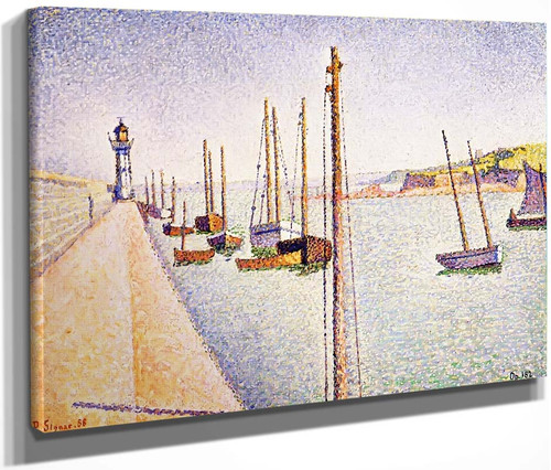 The Port Of Pontrieux By Paul Signac