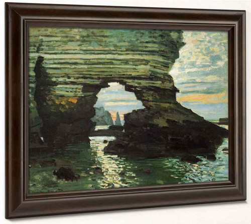 The Porte D'amont, Etretat By Claude Oscar Monet