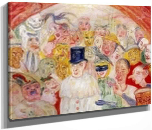The Puzzled Masks By James Ensor By James Ensor