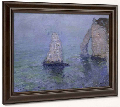 The Rock Needle And Port D'aval, Etretat By Claude Oscar Monet