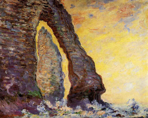 The Rock Needle Seen Through The Porte D'aval By Claude Oscar Monet