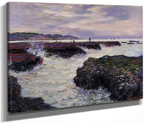 The Rocks At Pourville, Low Tide By Claude Oscar Monet
