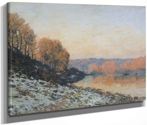 The Seine At Bougival In Winter By Alfred Sisley