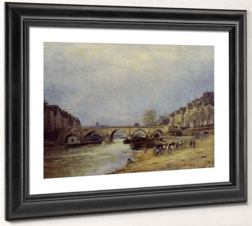 The Seine At L'ile Saint Denis1 By Stanislas Lepine