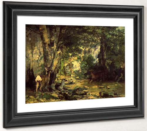 The Shelter Of The Roe Deer At The Stream Of Plaisir Fontaine, Doubs By Gustave Courbet By Gustave Courbet