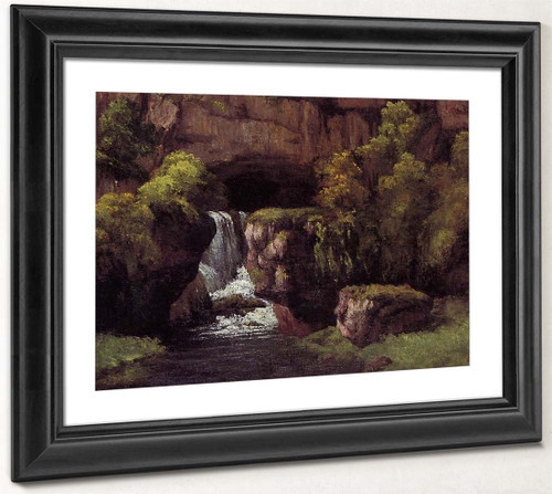 The Source Of The Lison By Gustave Courbet By Gustave Courbet