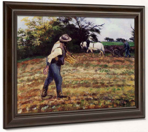 The Sower At Montfoucault By Camille Pissarro By Camille Pissarro