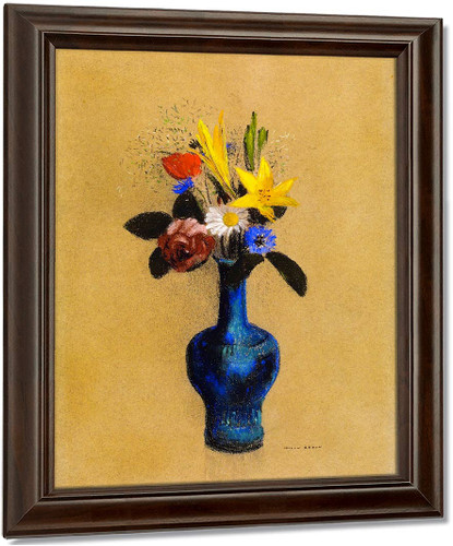 Bouquet Of Flowers In A Blue Vase3 By Odilon Redon